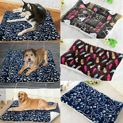 AU Pet Bed Mattress Dog Cat Cushion Pillow Mat Soft Winter Warm Size L/XL Large