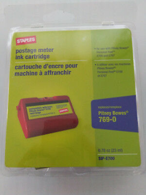 Red SIP-E700 Replacement Postage Meter Ink Cartridge for Pitney Bowes 769-0
