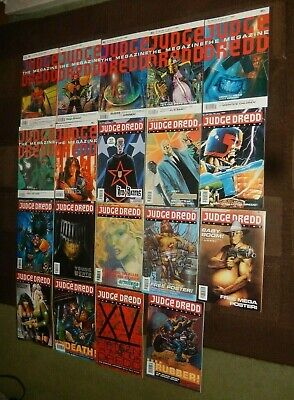 JUDGE DREDD THE MEGAZINE MONTHLY COLLECTION ~ ISSUE No. 1 to No. 19 ~ 1990-1992