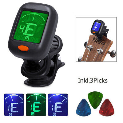 Digital Chromatic LCD Clip-On Electric Tuner FOR Guitar Ukulele Violin Bass US
