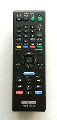 Sony DVD Blu-Ray Player BDP-S590WM BDP-S5100 NEW USBRMT Remote RMT-B119A #