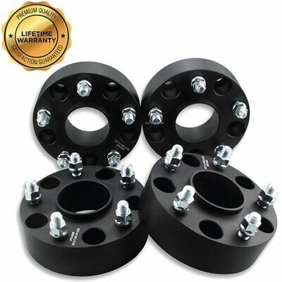 """2/"""" Black Hubcentric Wheel Spacers 5x5.5 Adapters fits Ram 1500 2012-2017 4"""