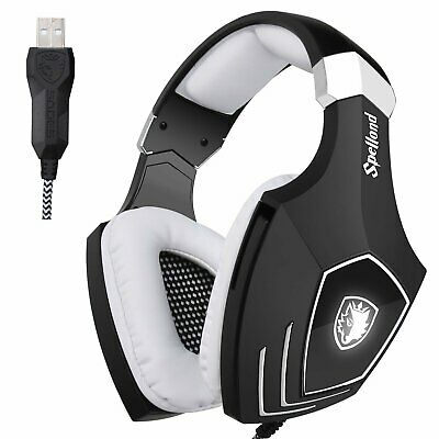 Sades Spirit Wolf Gaming Headsets for PS4 xboxone PC 7.1 Surround USB Headphones