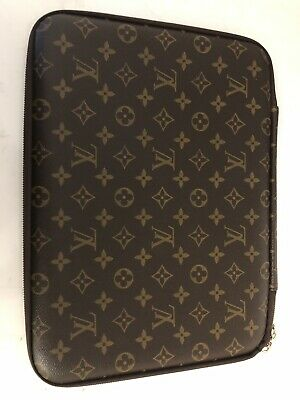 "Louis Vuitton Monogram portfolio Folio Folder 13"" Laptop Surface Pro Case"