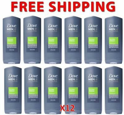 6 x Dove Men Extra Fresh Body and Face Wash 400ml