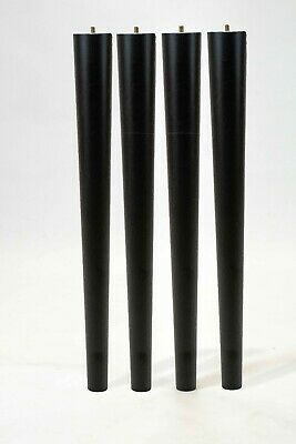 Table legs painted in black colour 74cm long chunky, husky, solid wood