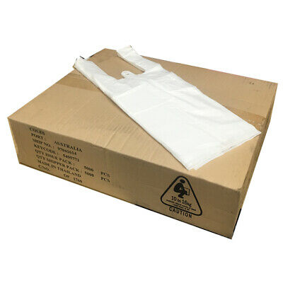 CLEARANCE 5000 Plastic Singlet Grocery Shopping Checkout Bags Melbourne BULK BUY