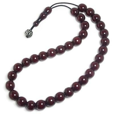 PRAYER BEADS-Komboloi~VINTAGE, Collectible Cherry Amber Bakelite FATURAN 55.70 g