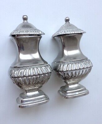 Vintage Silver Plated Salt And Pepper Shakers - Heavy 13 cm - Grenadier England
