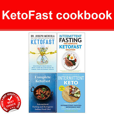 KetoFast cookbook books set Intermittent Fasting Complete KetoFast Solution NEW