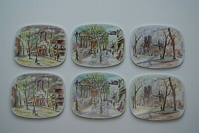 Vintage French Decor Metal Place Mats Puillery  Art Worcester Ware England