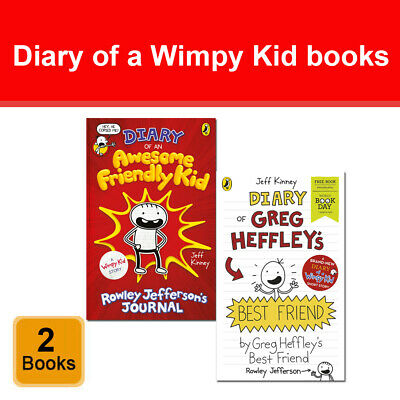 Jeff Kinney Diary of a Wimpy Kid 2 Books Set Diary of an Awesome Friendly Kid