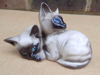 BESWICK Siamese Cats Huddled Together Figurine