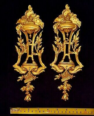 Pair Decorative Moulding Antique Gold Gilt Or White Resin Wall Mirror Decoration