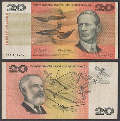 1966 Coombs / Wilson first year and prefix of the $20 decimal note XAA 491424.