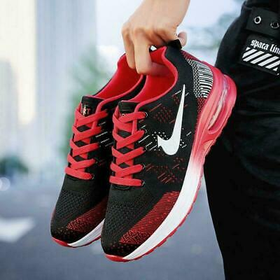 Men Sports Gym Trainers Air Cushion Lace Up Sneakers Ladies Casual Running Shoes
