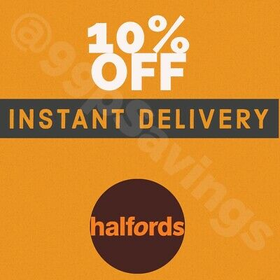 Halfords - 10% OFF Discount Instore - INSTANT DELIVERY