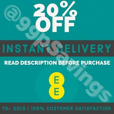EE - 20% OFF Monthly Plans - DISCOUNT CODE -  INSTANT DELIVERY
