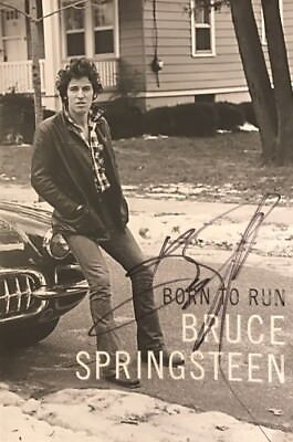 Bruce Springsteen Signed Book Bruce Autographed Book (Born To Run) Photo Proof