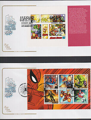 2019 FDC - Marvel P S B Cotswold 5 Covers with  5 Postmarks  - Post Free