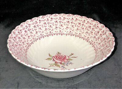 "Johnson Bros Ironstone * ROSE BOUQUET *8 1/4""  VEGETABLE/SERVING BOWL*"