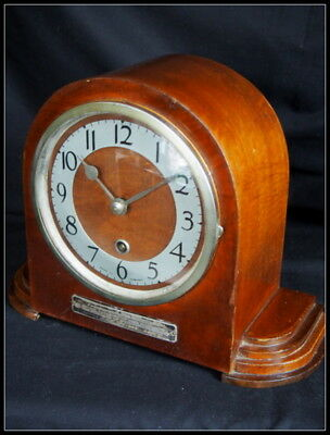 Art Deco Mantel Clock. Wooden Presentation.