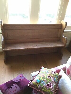 Wooden Church Pew In The Arts And Craft Style