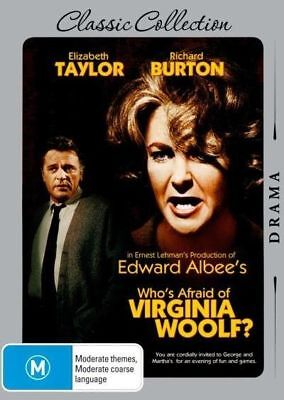 Who's Afraid Of Virginia Woolf? (DVD, 2015, 2-Disc Set) NEW SEALED-FREE POST