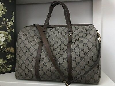 """28377ddc044 GUCCI """"NICE"""" GG canvas boston bag with long strap -  450.00"""