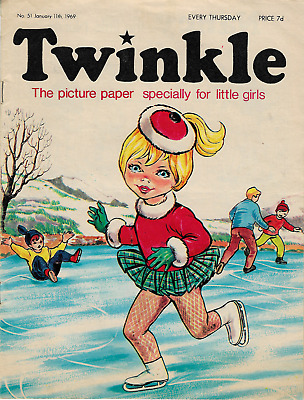 VGC Vintage Twinkle Comic No. 51 #51 January 11 1969 50th Year