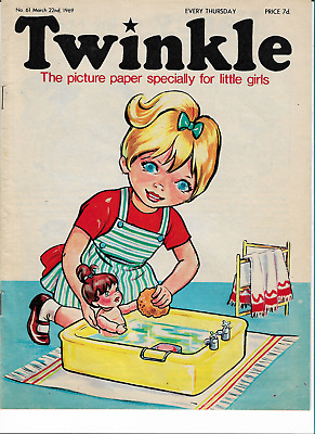 VGC Vintage Twinkle Comic No. 61 #61 March 22nd 1969 50th Year