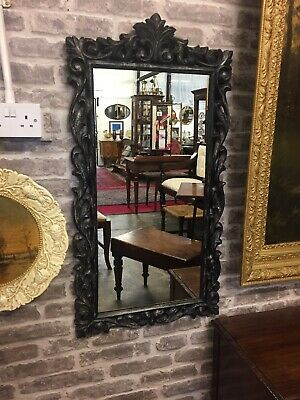 Amazing 19th Century Hand Carved Hardwood Mirror