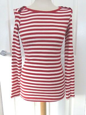 f916bd30d732dd GANNI | RED & White Striped Long Sleeve Top | High End - $35.36 ...
