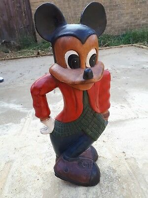 """Large Carved Wood Mickey mouse 20"""" H"""