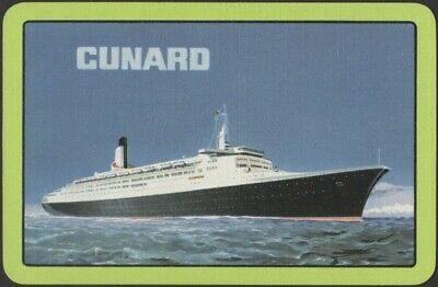 Playing Cards Single Card Old CUNARD Shipping Advertising QUEEN ELIZABETH 2 QE2
