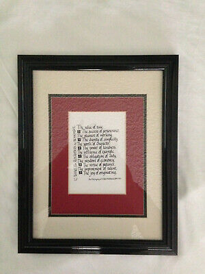 The Philosophy of Albert Hubbard, 1856-1912. Framed and matted.