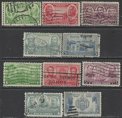 U.S. Used Scott # 785 - # 794 Army Navy  1936 - 1937