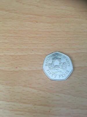 Fifty Pence 50p Bailiwick of Jersey Grosnez Castle coin 2009  Stunning