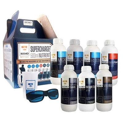 REMO Supercharged - Entire Range of Hydroponic Nutrient Starter Kit - 9 x 500ml