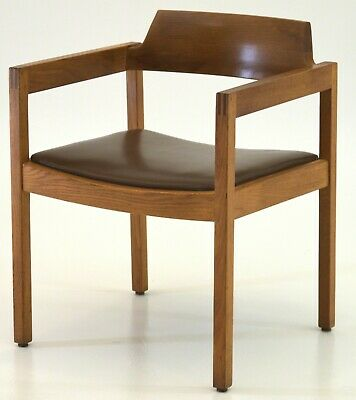 Premium Gunlocke chair for home or office desk Mid century modern vintage wood