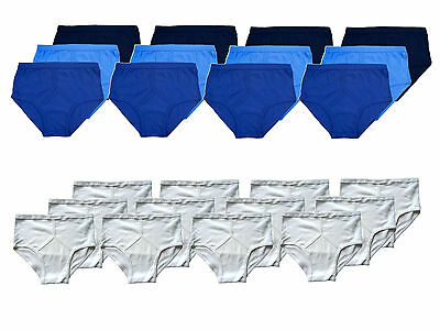 Mens Y Front 100% Soft Cotton Traditional Briefs Underwear Knickers 12 Pack