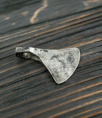Ancient Silver Viking Axe Amulet / 8th-10th Century AD / Nordic Pendant