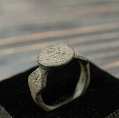 Antique Medieval Ring Ancient Bronze Ring c.15th-16th century Unique Artifact