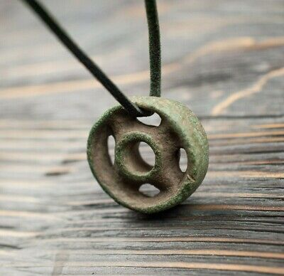 Rare Ancient Celtic Amulet Wheel of Life 5-4 Century BC Authentic Artifact