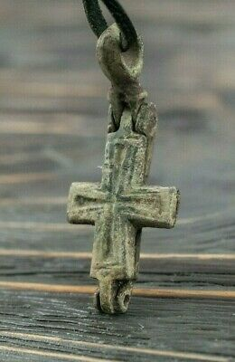Medieval Reliquary (Double Cross) Encolpion 10th-11th Century AD Byzantine Cross