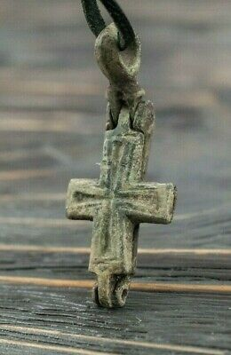 Medieval Reliquary Encolpion 10th-11th Century AD Byzantine Unique Cross