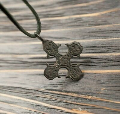 Medieval Viking Pendant 9th-11th Century AD Ancient Cross with Runes Unique Gift
