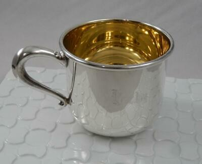 Vintage WEB 52 Sterling Silver Gold Washed Baby Cup BECKY SF143