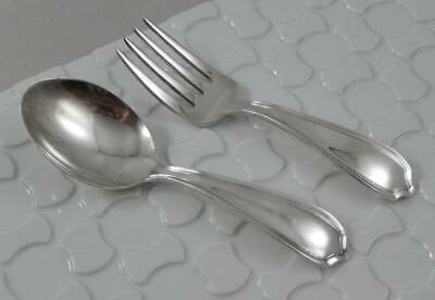 Vintage Lullaby Sterling Silver Baby Fork & Spoon 2 Piece Set SF144