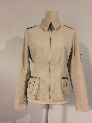 NEXT cream fitted Coat / Jacket Size 12 VGC